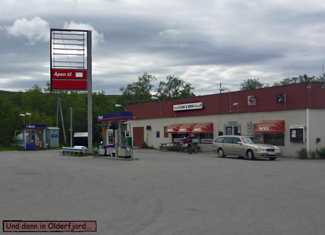 Tankstelle Olderfjord