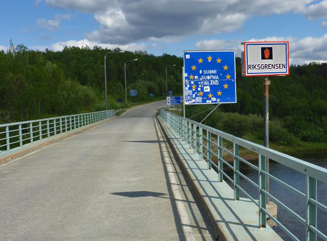 Grenze Finnland Norwegen