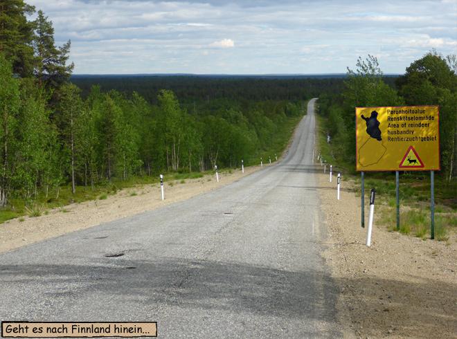 Finnland Rentierzuchtgebiet