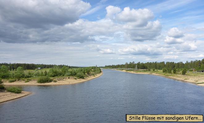 Fluss Finnland Rovaniemi