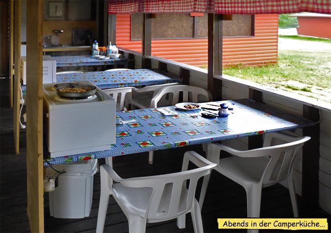 Küche Campingplatz