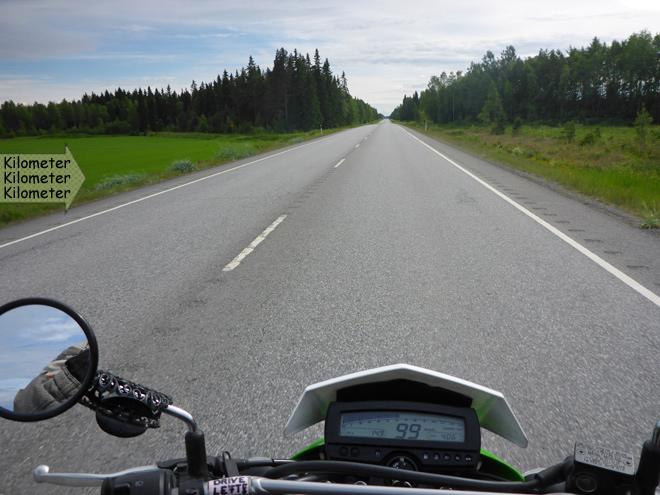 Finnland Landstraße gerade
