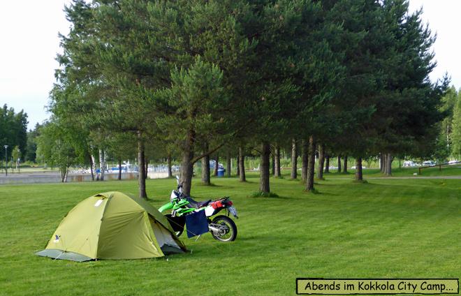 Kokkola Camping Motorrad