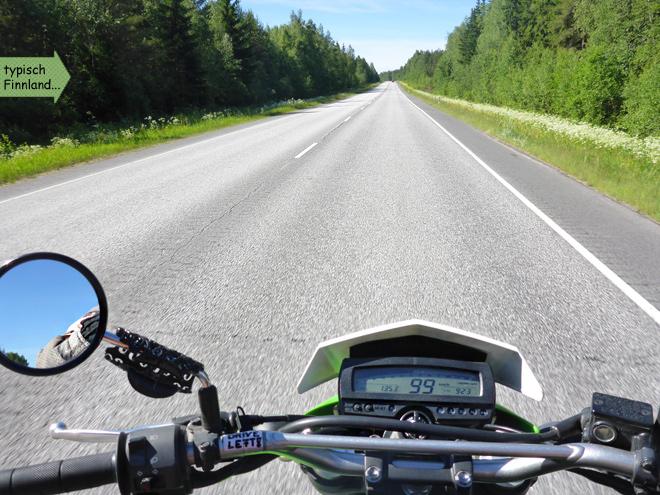 Finnland Landstraße E8