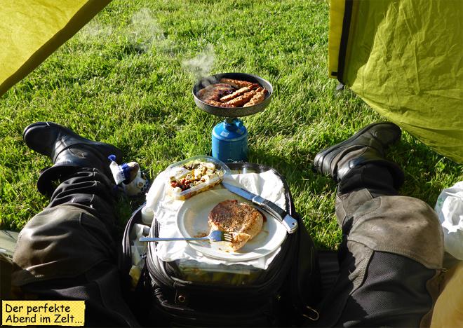 Kochen am Zelt