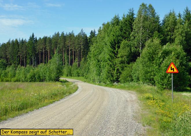 Schweden Schotterstrecke