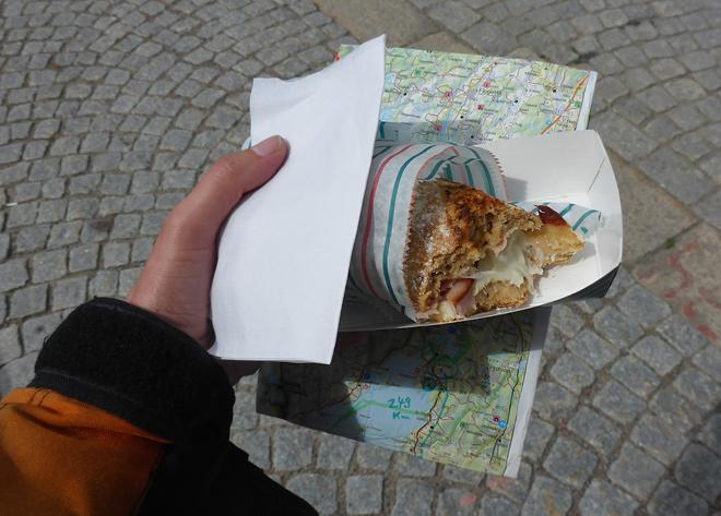 Käse Schinken Baguette