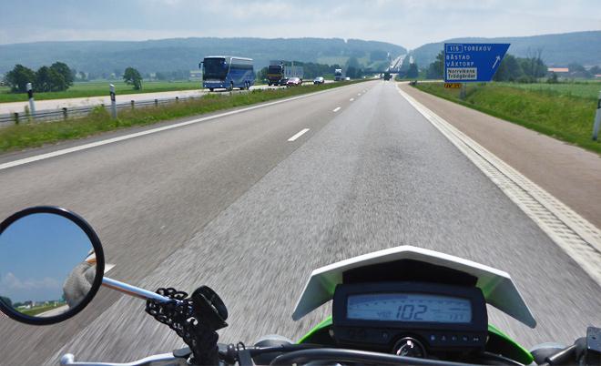 Autobahn Motorrad Schweden