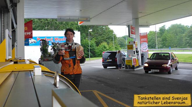 Tankstelle Frühstückspause