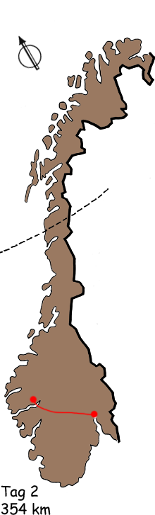 Route Kiel Oslo