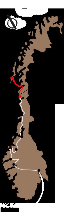 Route zum Nordkap