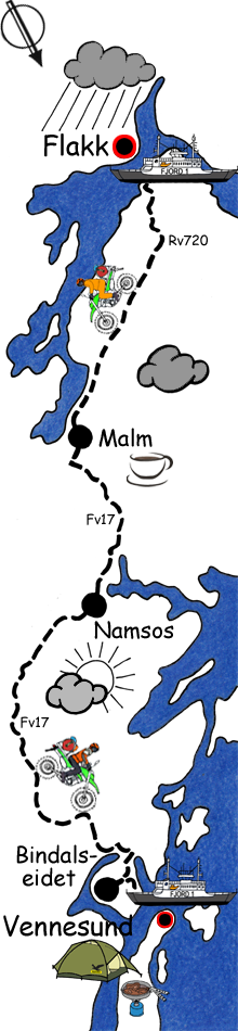 Route Norwegen