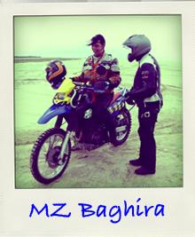 Svenja auf MZ Baghira