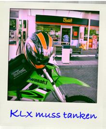 Kawasaki KLX250 Tankstelle