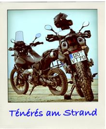 Yamaha Tenere Endurowandern am Strand