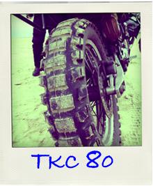Enduroreifen TKC80 am Strand