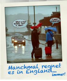 Regenwetter in England