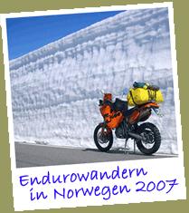 Endurowandern in Norwegen im Schnee