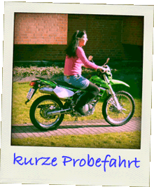 Probefahrt mit KLX250