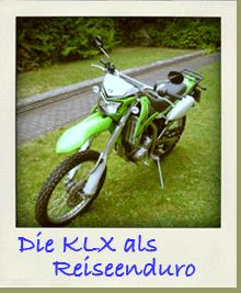 Kawasaki KLX 250 als Reiseenduro