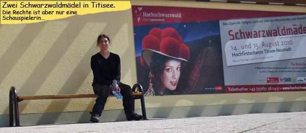 Svenja als Schwarzwaldmadel in Titisee