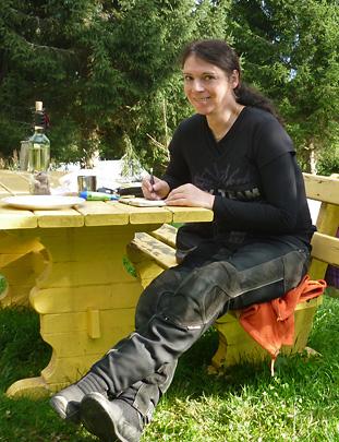 Svendura auf dem Campingplatz