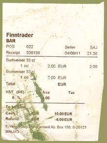 Barrechnung Finntrader