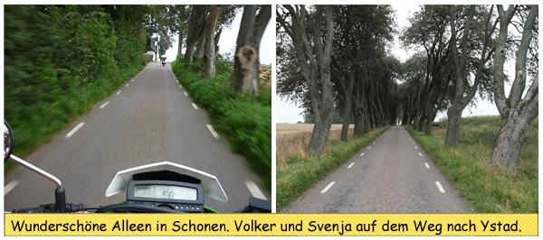 Motorradfahren in Skåne