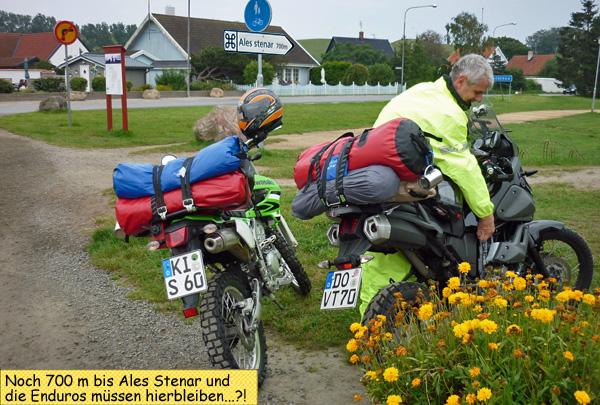 Ales Stenar Parkplatz