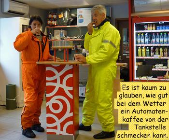 Automatenkaffee Tankstelle Regenpause Schweden