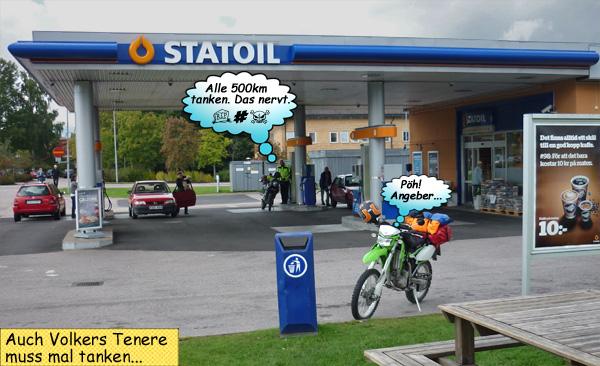 Statoil Tankstelle in Schweden