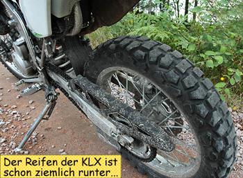 Reifen KLX250 Endurowandern