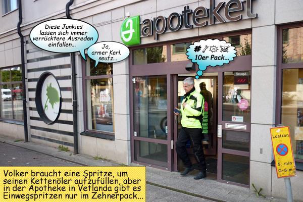 Kettenöler Apotheke Schweden