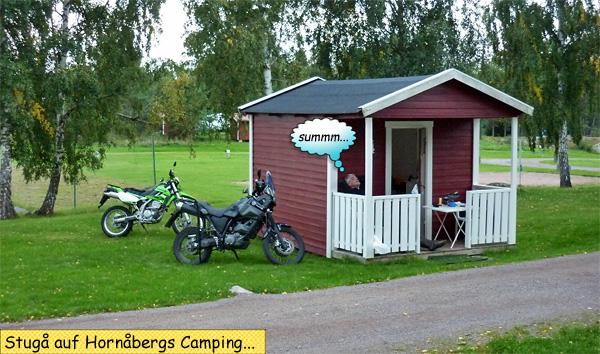 Hütte Stuga Motorradtour durch Schweden