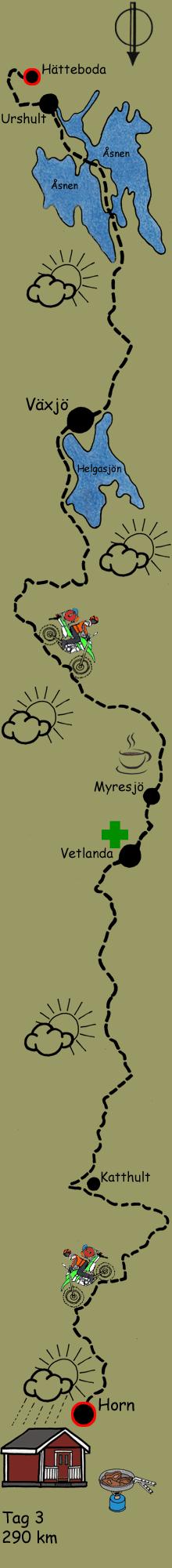 Urshult Växjö Route