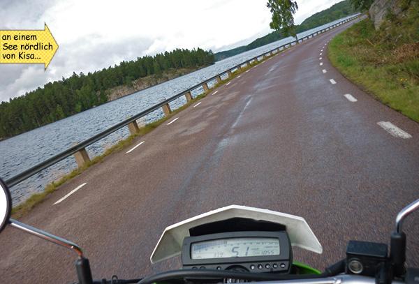 Kurven Motorradfahren in Schweden