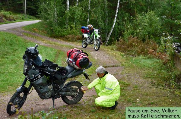 Motorrad Kette fetten Kettenspray