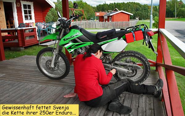 Motorradkette schmieren
