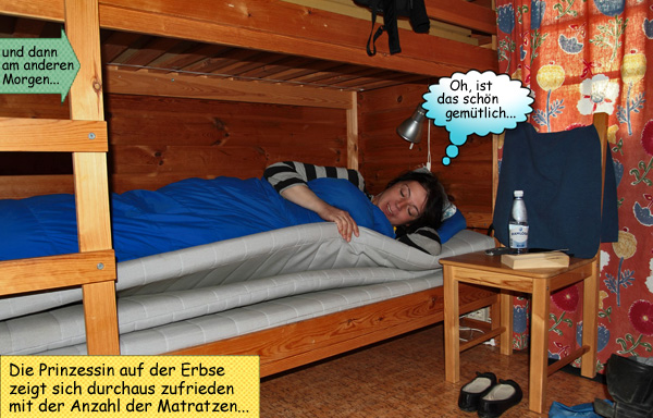 Svenja wacht im Bett auf