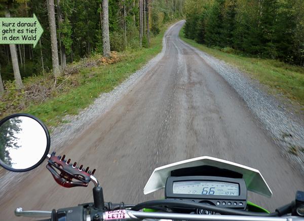 Schotterpisten Motorradwandern Schweden