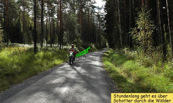 Endurowandern über Schotterpisten durch Schweden