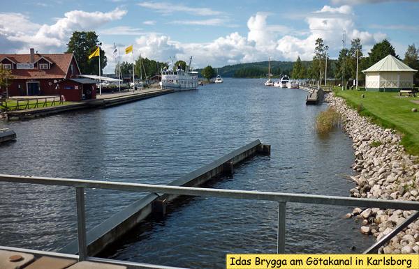 Idas Brygga Götakanal Karlsborg Schweden