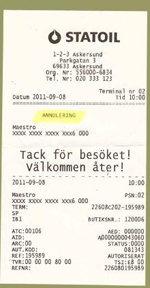 Statoil Maestro Card