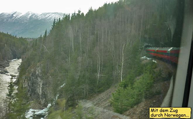 Bahnstrecke durch Norwegen