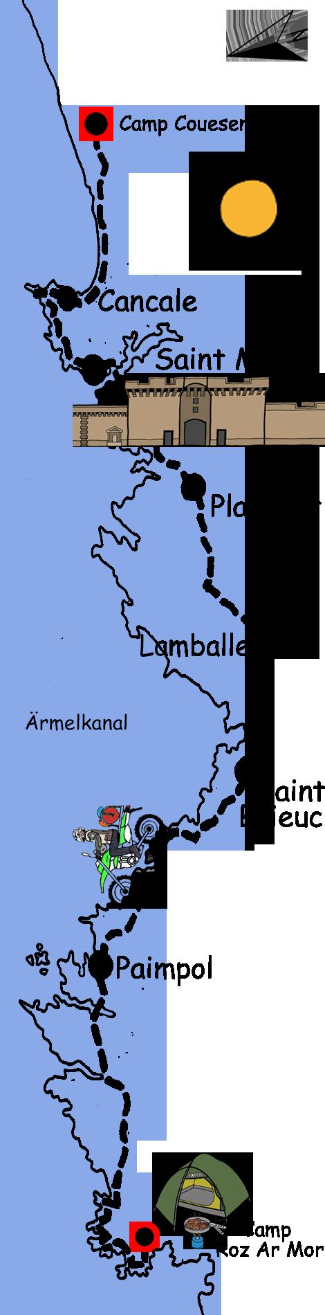 Motorradtour Bretagne