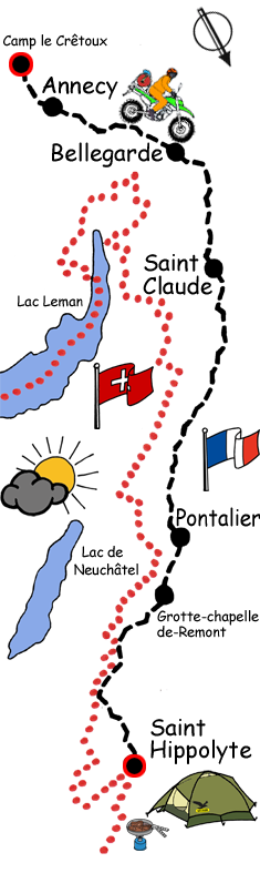 Motorradreise Auvergne Frankreich