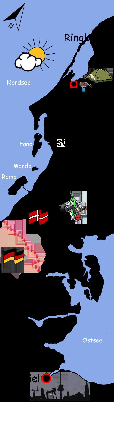 Motorradtour Dänemark