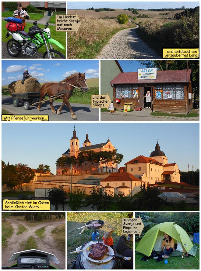 Endurowandern Motorradreisen mit Zelt und Schlafsack mit Svenja Svendura