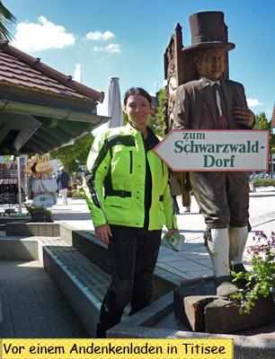 Svendura in Titisee mit dem Motorrad