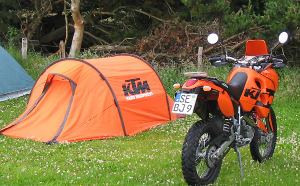 KTM Zelt Tunnelzelt und KTM Adventure